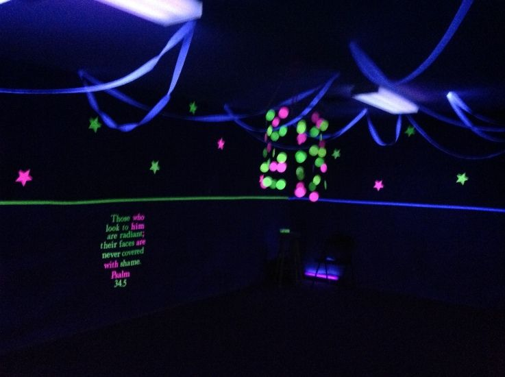 Go Fish Shine Glow Game Room With Images Glow Games Vbs