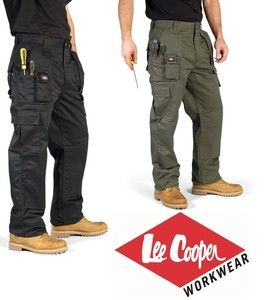 Details about LEE COOPER WORK WEAR CARGO TROUSERS PANTS KNEE ...