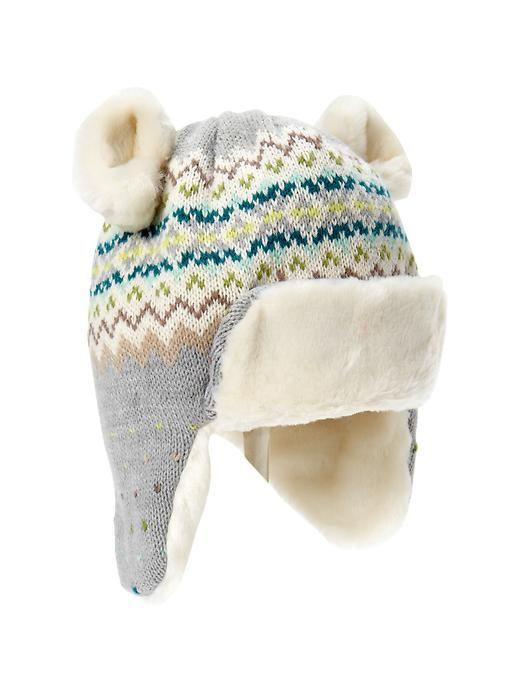 Gap | Fair Isle bear trapper hat | Kids Stuff | Pinterest | Baby ...