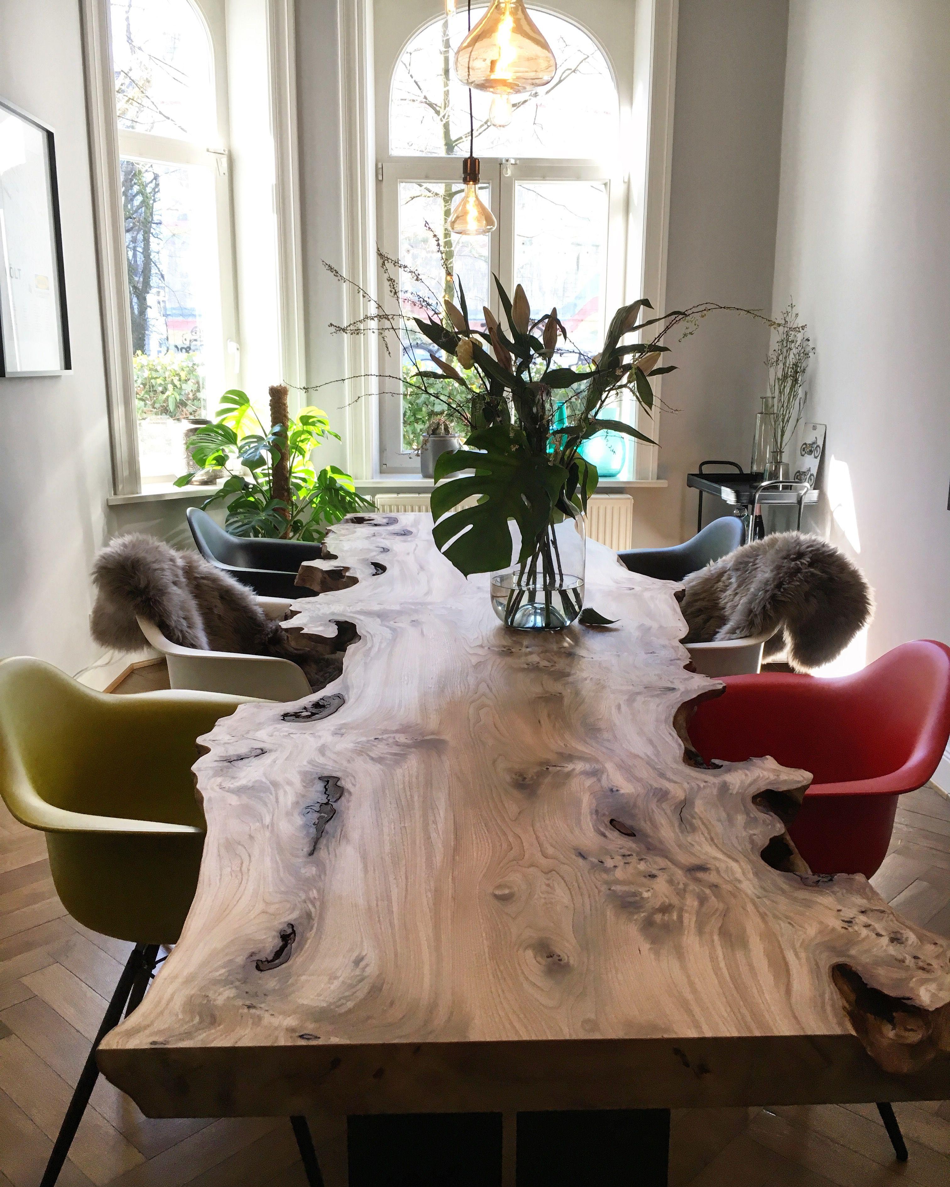Esstisch stammtisch baumtisch interior einrichtung - Baumtisch esszimmer ...