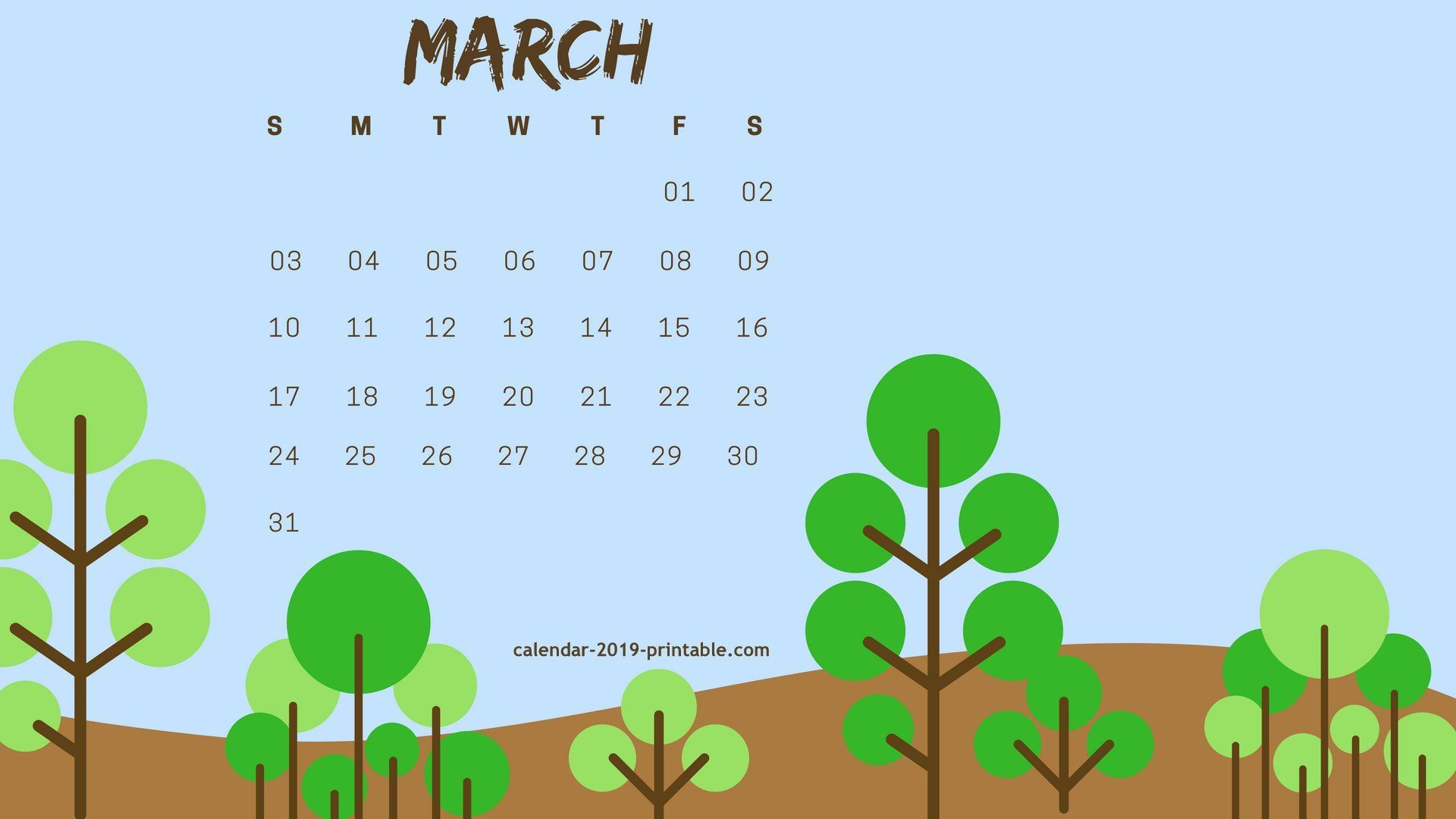 March 2019 Desktop Calendar Wallpaper Calendar Wallpaper 2019 Calendar Calendar Background