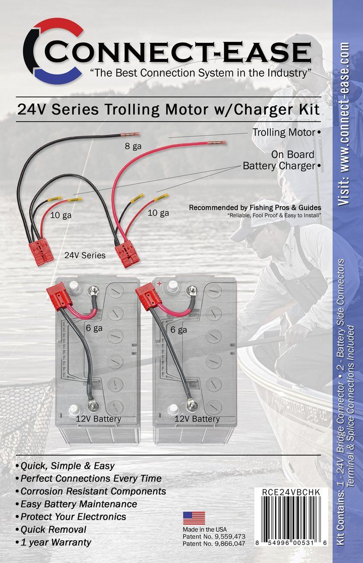 24 Volt Series Trolling Motor Connection Kit With On