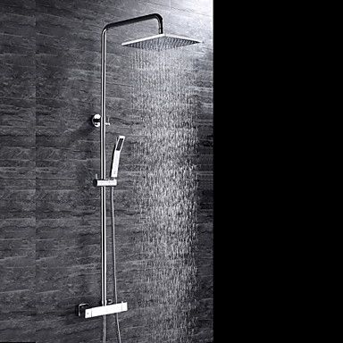 Contemporary Shower System Rain Shower Handshower Included ...