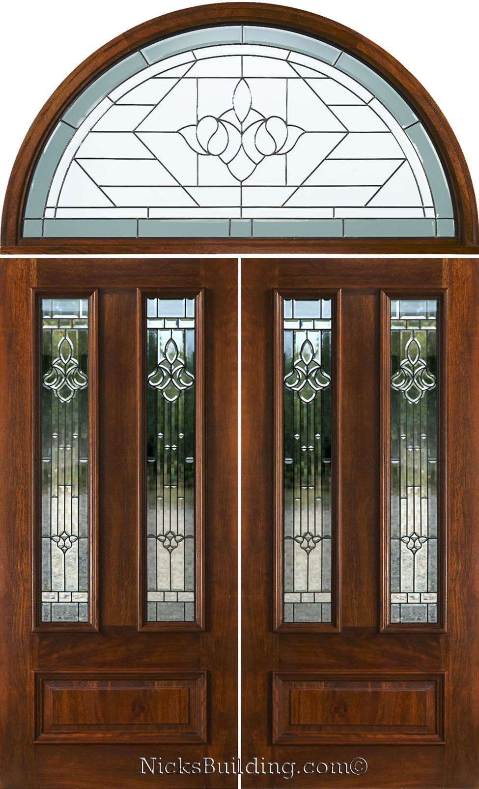 Double Doors With Arched Transoms Half Round Transom Mahogany