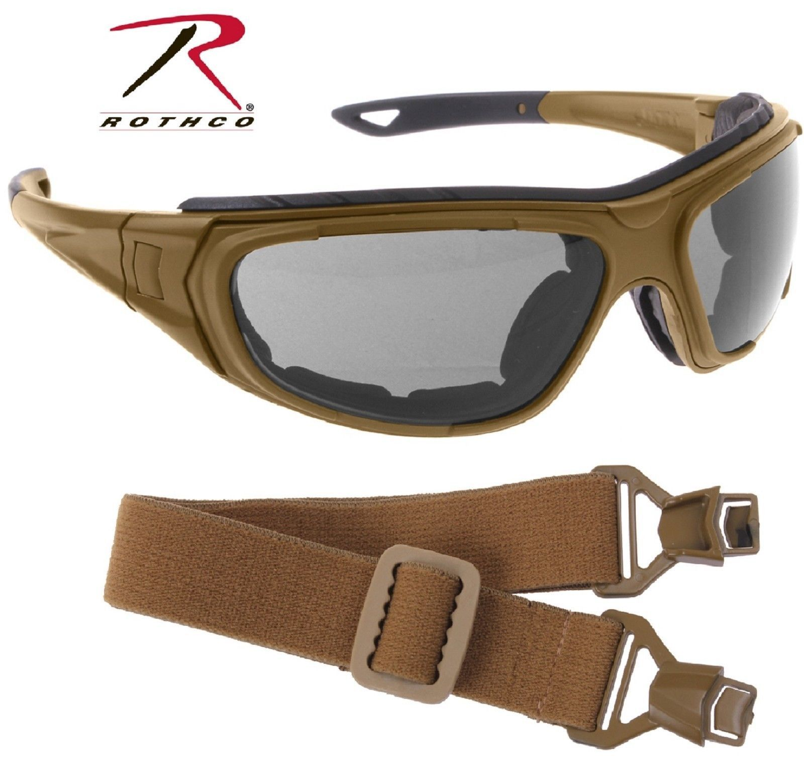 Coyote Brown Interchangeable Sunglasses to Goggles Tactical Optical System 51d2a353be