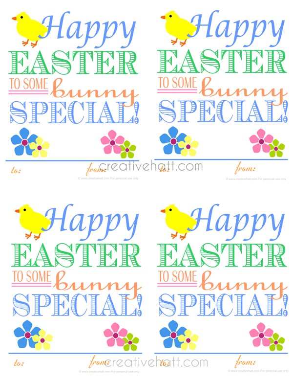 Happy easter to some bunny special gift tags free printables happy easter to some bunny special gift tags free printables negle Image collections