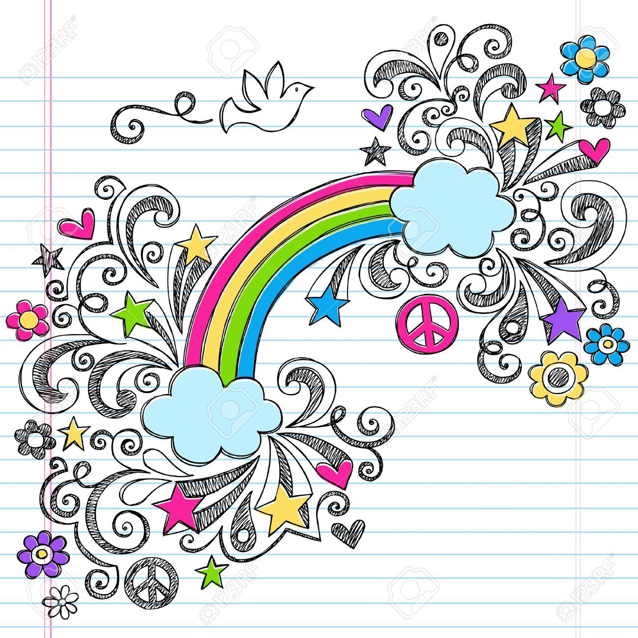 Cute doodles to draw on paper images for Cute designs for paper