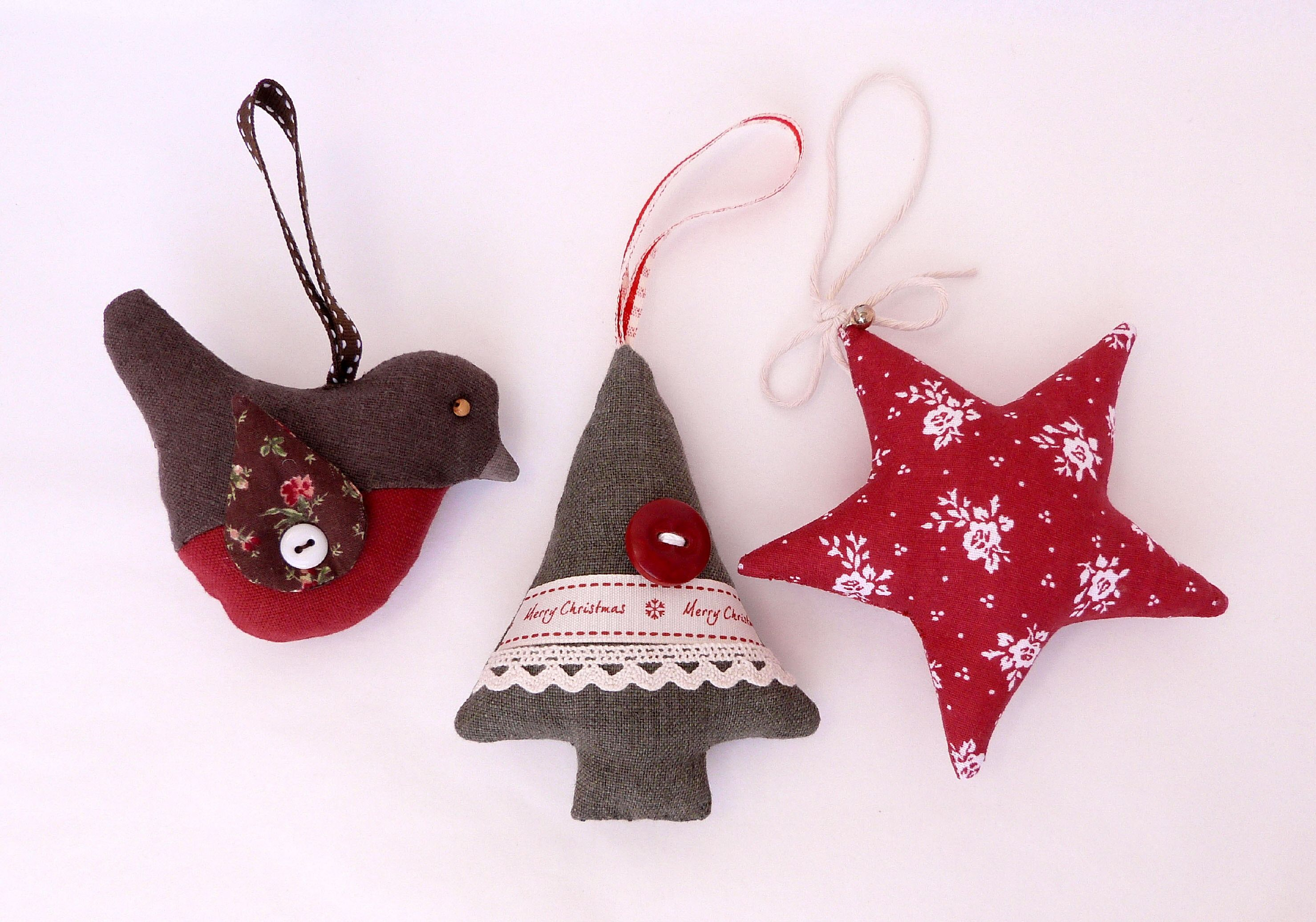 Set Of 3 Christmas Decorations (A)