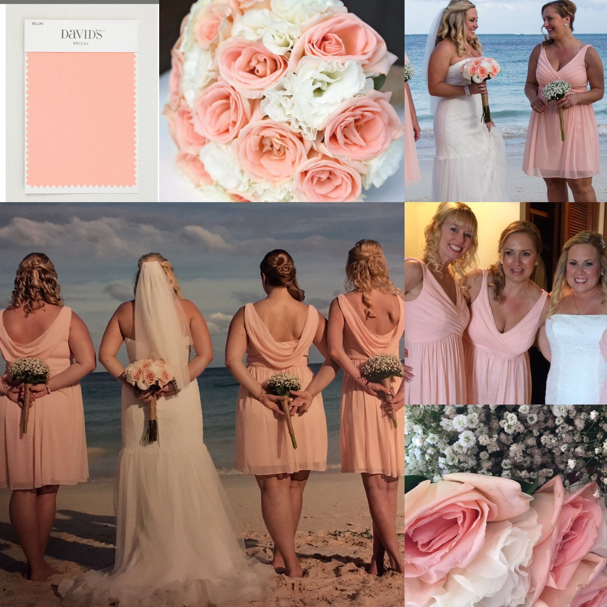 Bridesmaid girls beach color peach bellini babys breath bridesmaid girls beach color peach bellini babys breath bouquet david bridal wedding dressesbeach ombrellifo Image collections