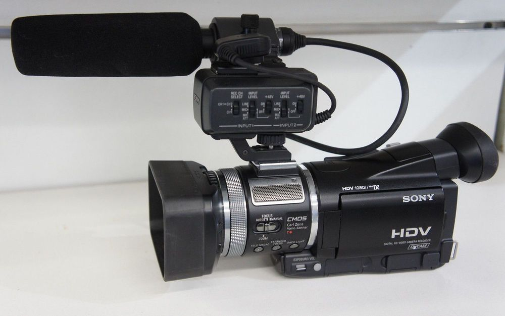Sony DVCam HVR-A1U High Definition HD Camera Mini DV Recorder Zeiss