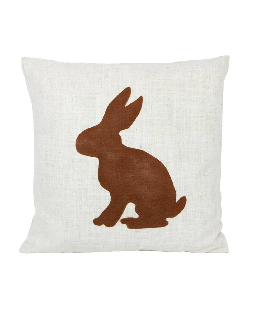 Cushion deer a linen fabric with deer print removable cushion cover
