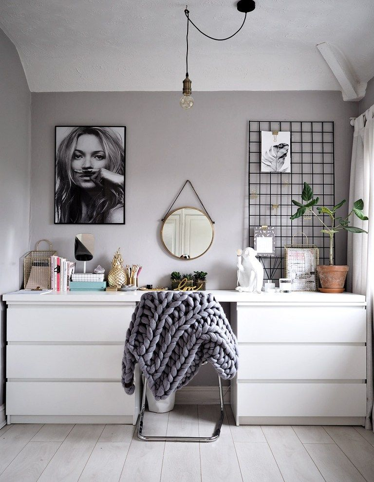 clean white workspace bedroom decor ideas bedroom decor ikea rh pinterest com
