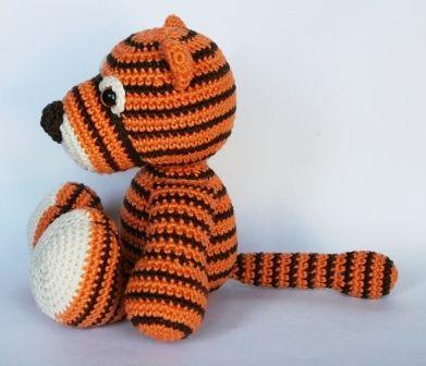 Häkelanleitung Kleiner Tiger' von Lucygurumi - Häkelprojekte   336x391