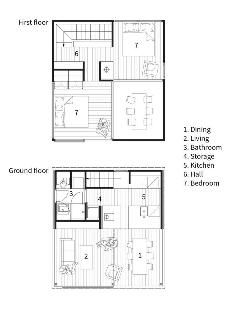 This Tiny 36 Square Metre Home Has The Most Inspiring Design Denah Desain Rumah Desain Rumah Desain