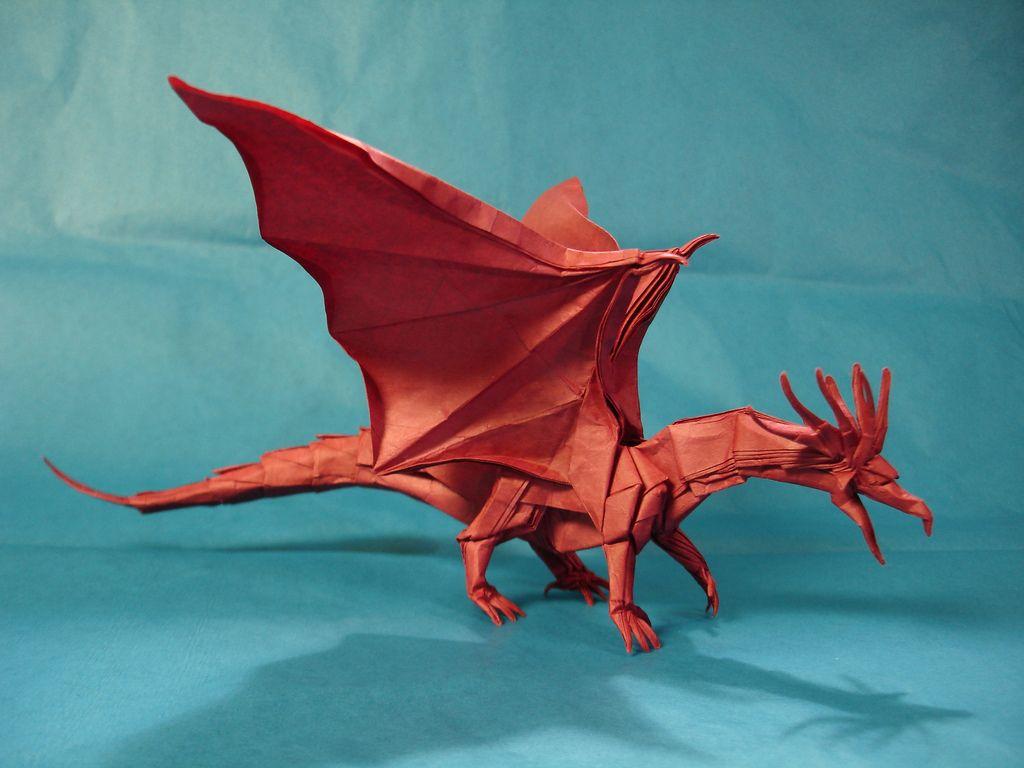 ancient dragon kamiya origami and diagram rh pinterest com origami ancient dragon instructions pdf origami divine dragon diagram