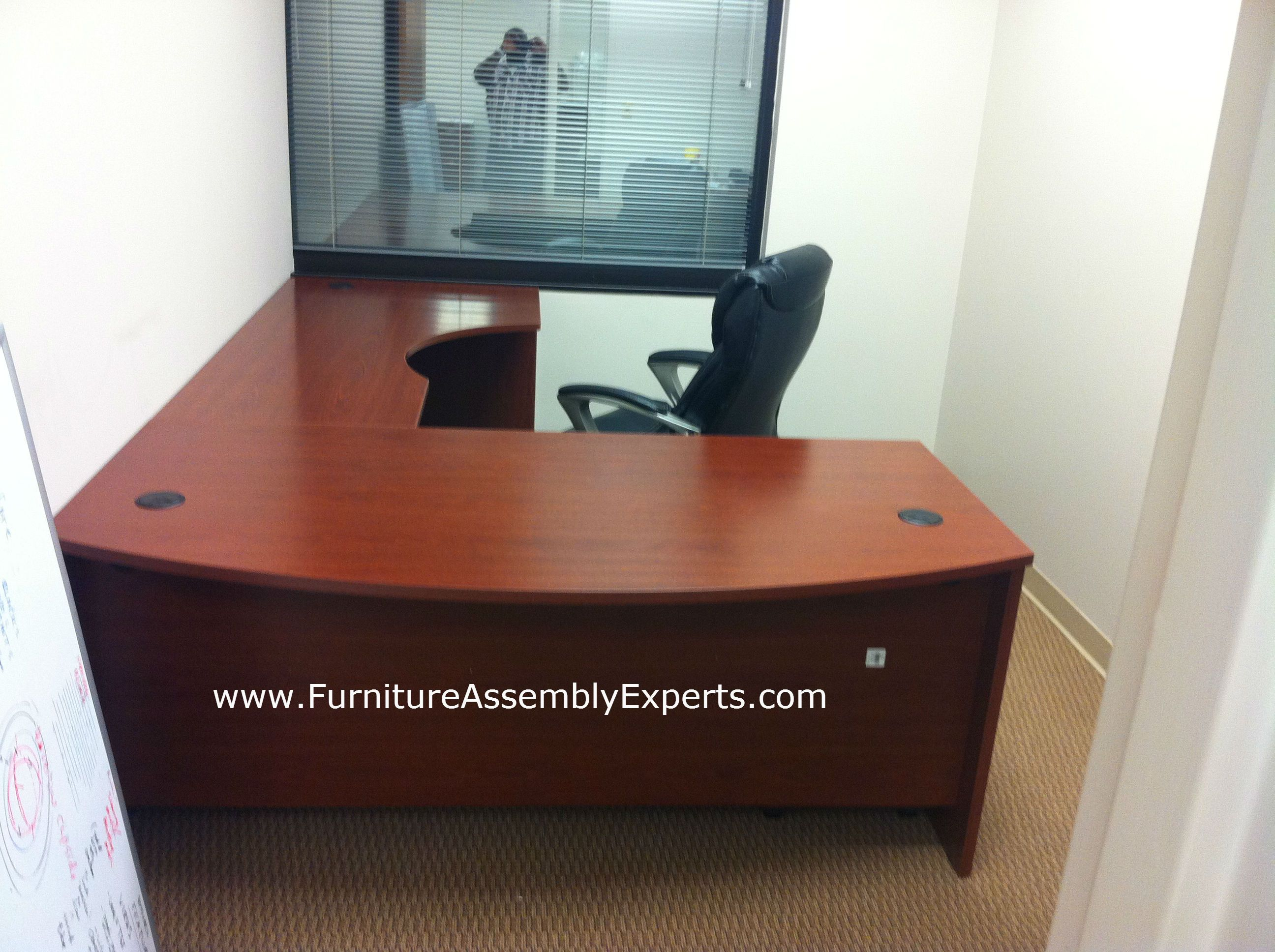 bush executive l shaped desk sold by office depot installed in rh pinterest com