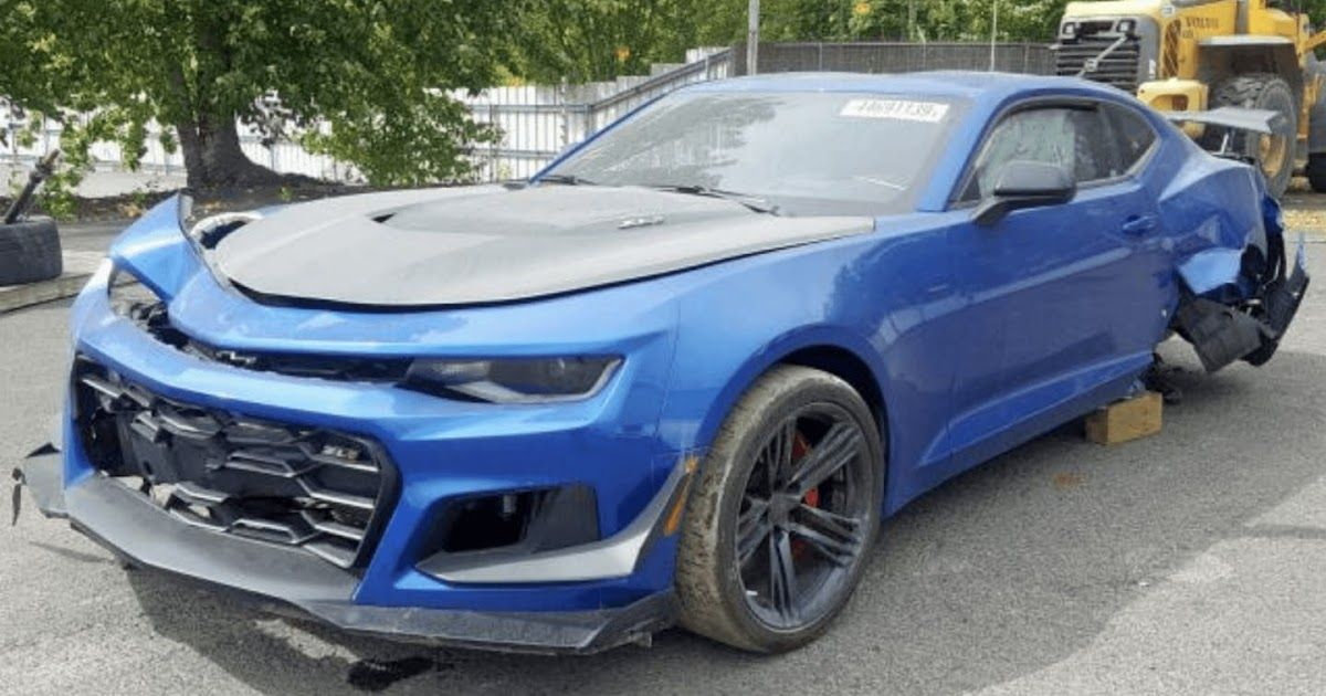 Crashed 650 Hp Chevy Camaro Zl1 1le Went Just 48 Miles