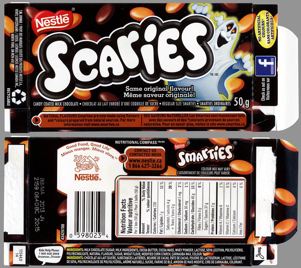 CC_Canada - Nestle - Scaries - Smarties - Halloween candy ... Smarties Box Design