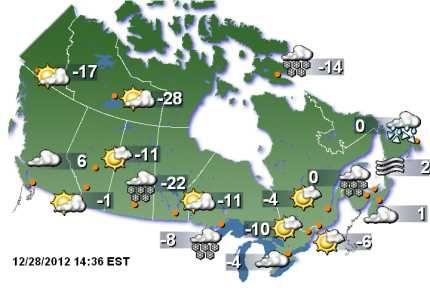 Canada Weather Forecast Map Weather Forecast Canada Map | Weather forecast, Weather unit, Map