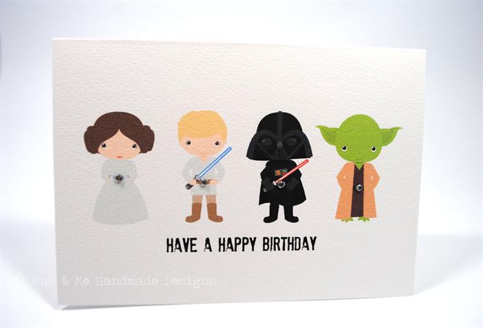 Happy Birthday Card Boy Star Wars Hbc117 Star Wars Birthday Happy Birthday Cards Star Wars Birthday Party