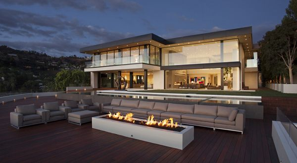 Contemporary pad on the Sunset Strip with spectacular views