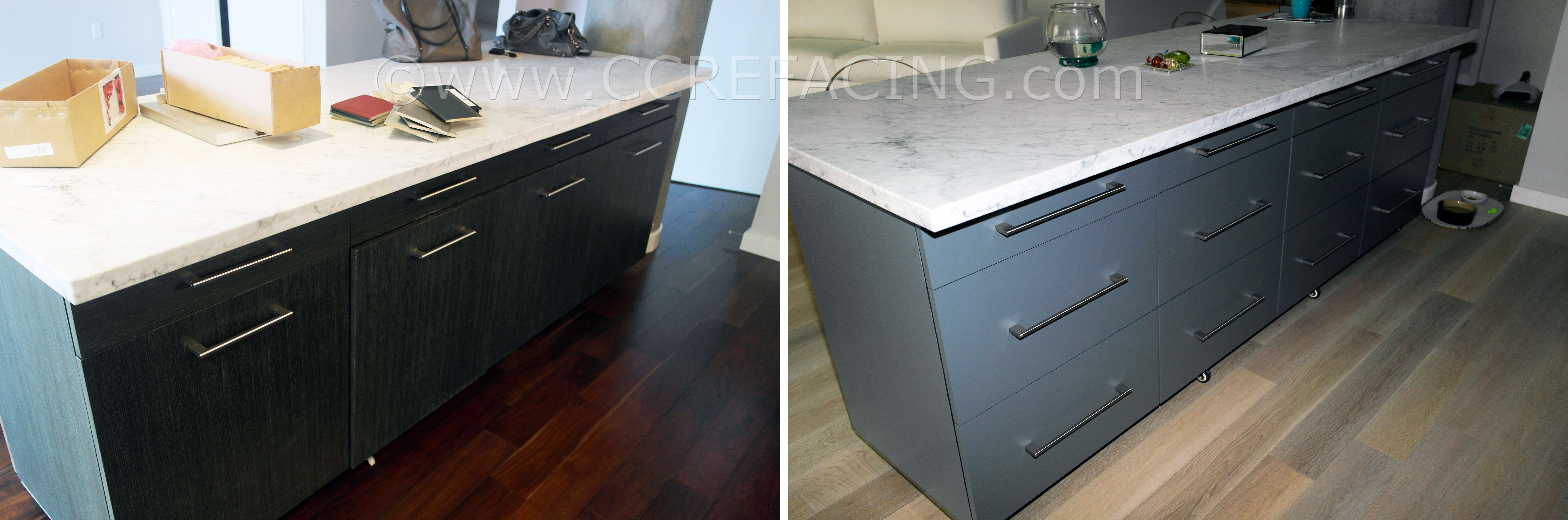 San Bruno cabinet reface refacing with Grey