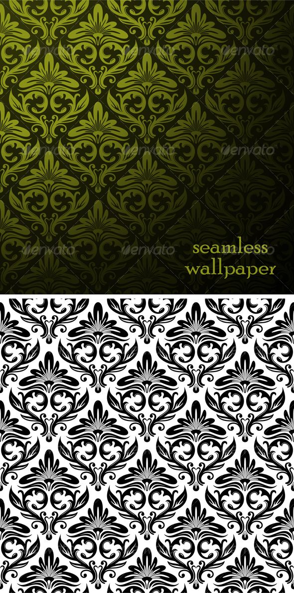Vector Seamless Onament Pattern Template Backgrounds Decorative