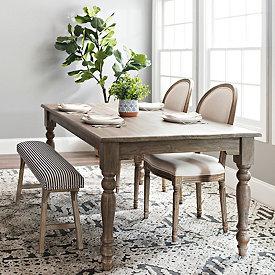 Dark Finish Juniper Dining Table In 2020 Dining Table Rug