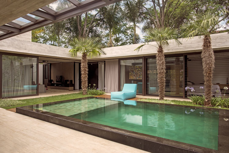 Galeria de resid ncia jardins drucker arquitetos e for Piscinas p 29 villalba
