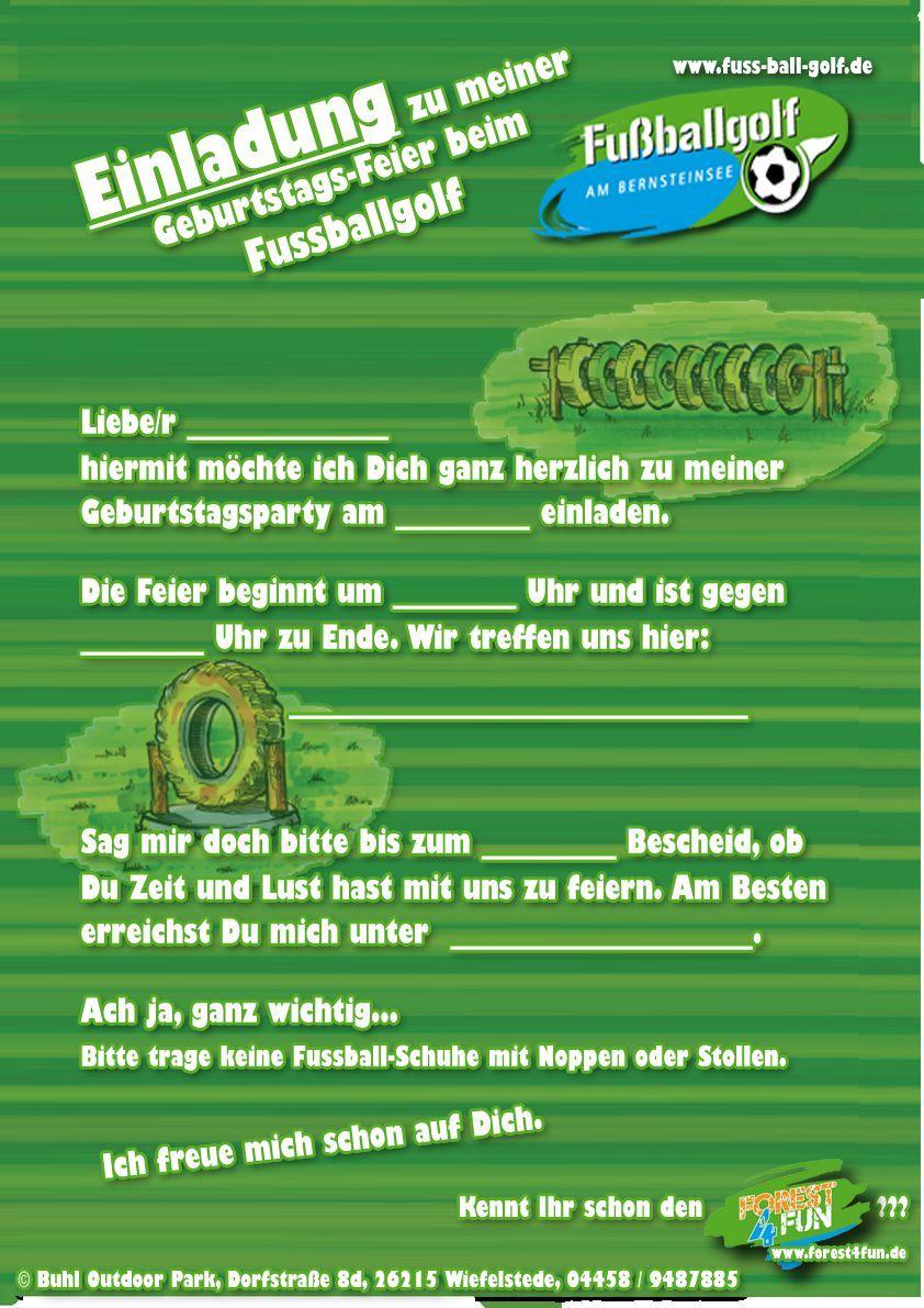 Einladung Kindergeburtstag Fussball Text Kindergeburtstag
