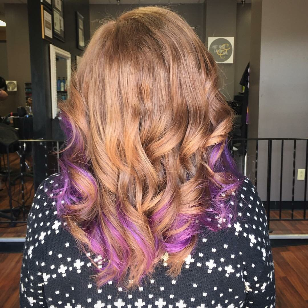Strawberry Blonde With Purple Peekaboos Curtesy Of Leann Just A