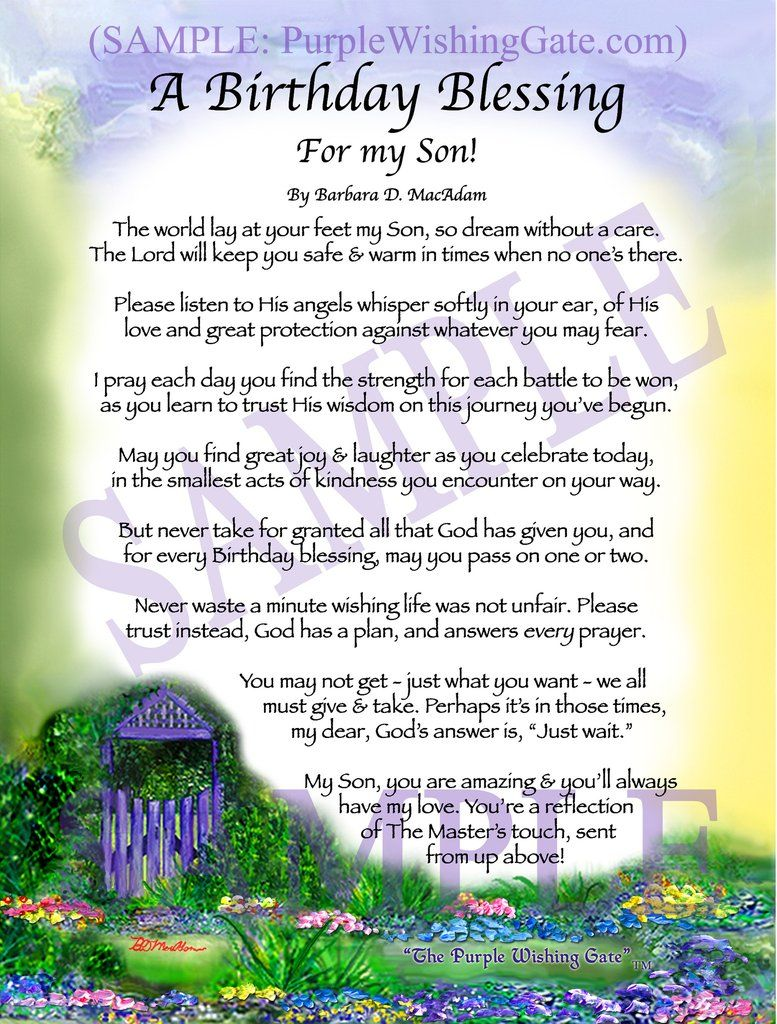 A Birthday Blessing for my Son! Wedding prayer, Wedding