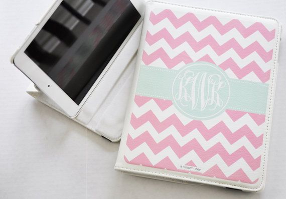 Monogrammed Chevron Ipad Mini Swirl Case By Amodernstyle On Etsy 44 99