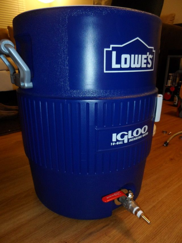 Building a mash tun from a 10