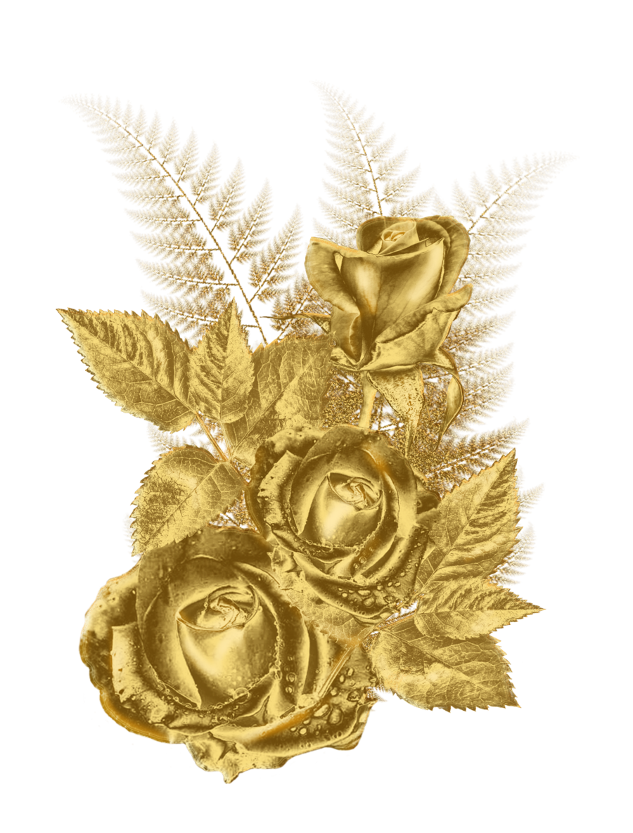 Golden Flower Flower Frame Png Golden Flower Rose Flower Png