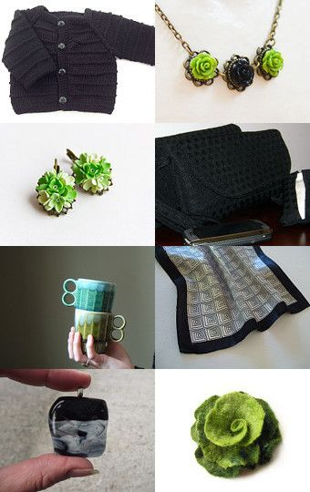 Black   Green by Mila on Etsy--Pinned with TreasuryPin.com