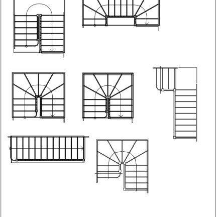 Fia cad blocks stairs 02 blocks pinterest autocad for Como hacer una escalera de caracol