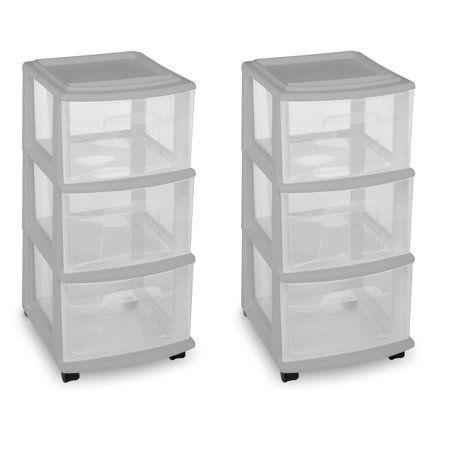mainstays 3 drawer medium cart gray set of 2 in 2019 bathroom rh pinterest com