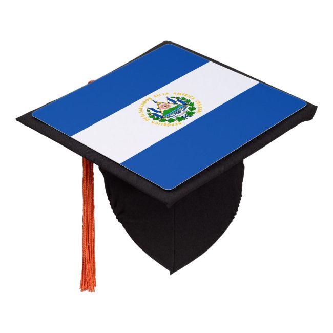 Patriotic El Salvador Flag Graduation Cap Topper - Stand ...
