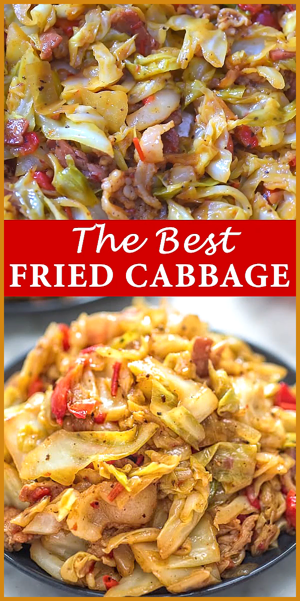 Fried Cabbage with Bacon Fried Cabbage with Bacon,