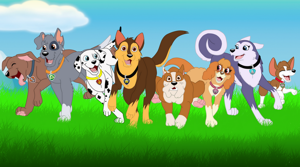 No Pup Is Too Small By Faitheverlasting On Deviantart Paw Patrol Pups Paw Patrol Toys Paw Patrol Bedding