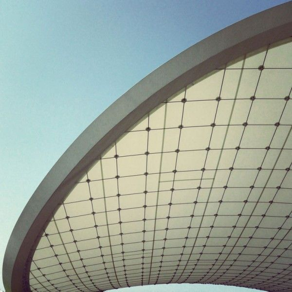 Autostadt roof and Service Pavilion in Wolfsburg, Germany by the architects of studio GRAFT.