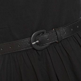 Audrey' Princess Black Swing Dress