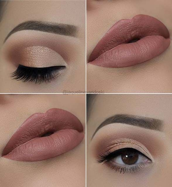 Photo of Un hermoso maquillaje de día Si eres más morena en vez de rosado suave dorado … – Make-Up Blog