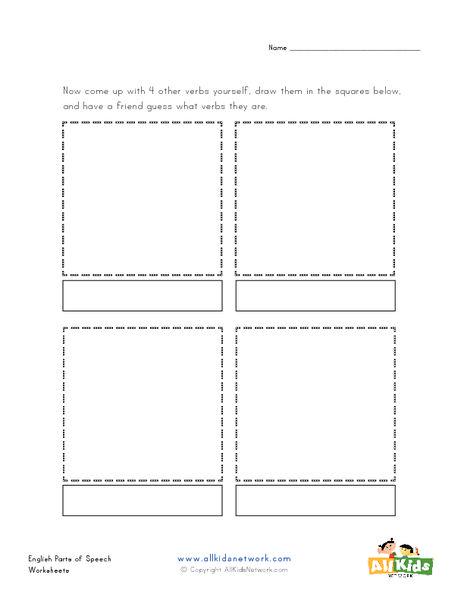 Draw The Verbs Worksheet English Pinterest Verb Worksheets