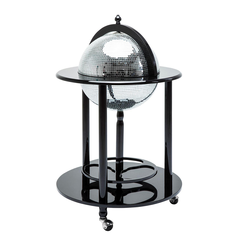 minibar disco - schwarz / silber der marke kare design, maße, Wohnzimmer