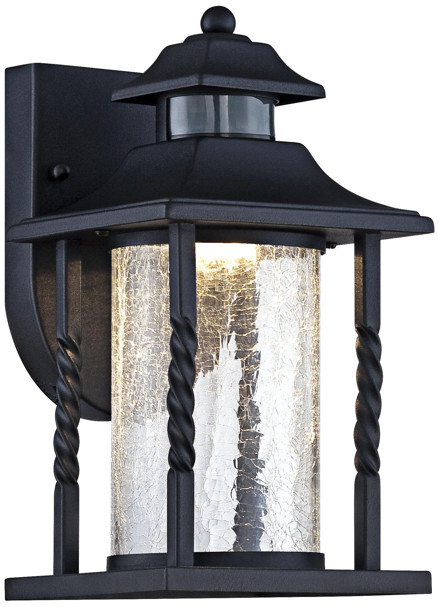 Westray 11 1 2 H Black Motion Sensor Led Outdoor Wall Light 7k617 Lampsplus Com Led Outdoor Wall Lights Outdoor Wall Lighting Outdoor Wall Light Fixtures