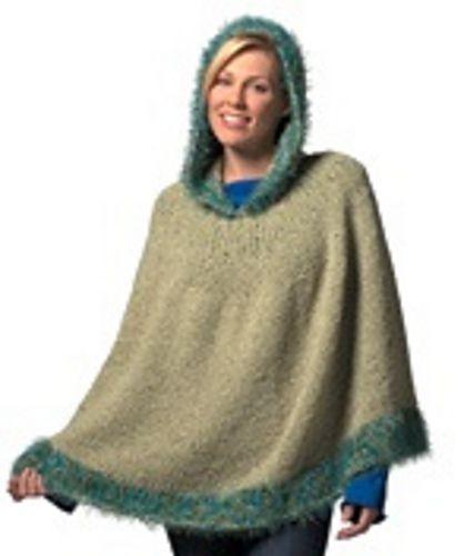 619dd09a4 Hooded Poncho pattern by Brenda Lewis | Knitting & Stuff | Hooded ...