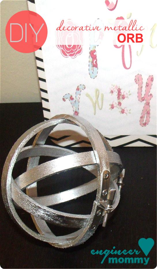 diy home decor west elm knock off metallic orb sphere grab a can rh pinterest com