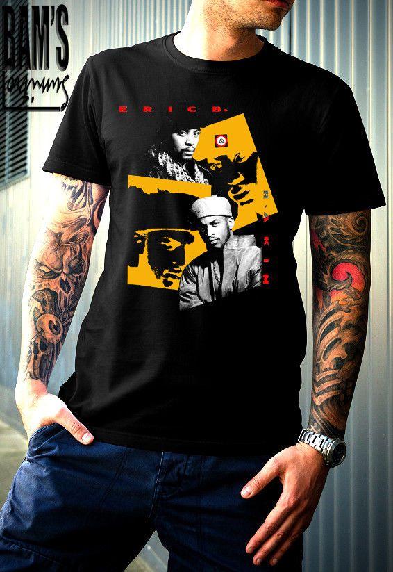 13276b18 New Eric B & Rakim Rap Hip Hop Men's T-Shirt Black Size S-2XL ...